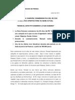Comunicado de Prensa ZAPATITO