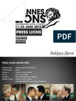 Cannes Lions 2012 Press Grand Prix - Gold Lions