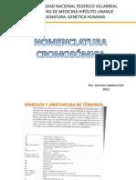NOMENCLATURA CROMOSOMICA