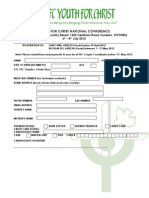 Cfc-yfc Ycon Registration Form