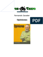 Savater, Fernando - Opiniones