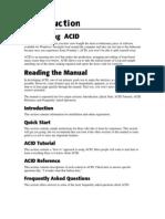 ACID Manual