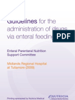 Guidelines for the Adminstration of Drugs via Enteral Feeding Tubes