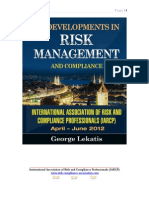 120 Developments in Risk Management and Compliance  April, May, June 2012 (1,747 pages, 25.1 MB)