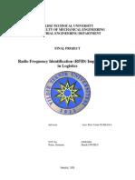 Burak Onurlu (2008), Radio Frequency Identification (RFID) Implementations in Logistics, YTU, Istanbul_Summary