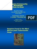 the Ibogaine Community Worldwide - User to User