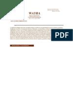 Boletín Wayra. Año 2, N°23, agosto 2005
