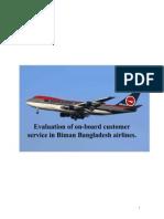 Customer Service on Biman Bangladesh Airlines