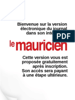 Le Mauricien 09 Aout 2011