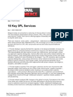 10 Key 3pl Checklist