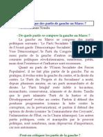 Critique Des Partis de Gauche au Maroc