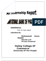 Internship Report on NBP