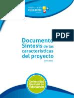 Documento Síntesis de las características del proyecto UNaE