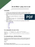 Commandes de Filtres