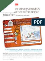 Une revue de projets citoyens à caractère socio-écologique au Québec