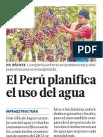 Perú planifica el uso del agua