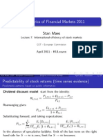 7Informational Efficiency of Stock Markets7