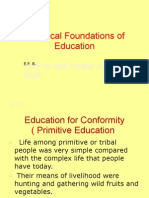 Historical Foundations of Education (calderon)
