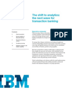 Shift in Banking - Analytics
