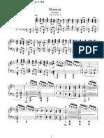 Brahms - Rhapsody Op. 119 No. 4