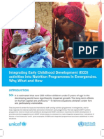 Integrating Early Childhood Development (ECD) activities into Nutrition Programmes in Emergencies. Why, What and How