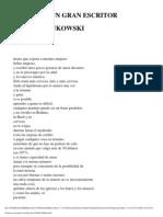 Charles Bukowski - Como Ser Un Gran Escritor (Poema)