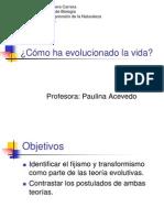 4 Teorias Evolutivas Fijismo y Transformismo