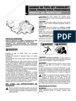 106537101 VersaJet Manual Spa