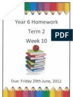 Year 6 Homework - Term 2 Week 10