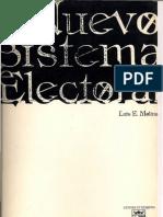 El Nuevo Sistema Electoral (1998)