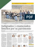 El Comercio 24.06.2012 Indignados y enamorados:limeños por su patrimonio