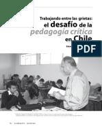 Pedagogía crítica en Chile. Revista  Docencia