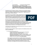Position Paper of the Save the Babies Coalition