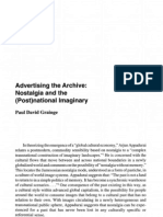 Advertising the Archive Nostalgia and the (Post) National Imaginary