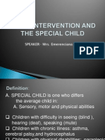 Early Intervention and the Special Child