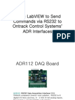 Using LabVIEW to Send Commands via RS232 to Ontrack Control Systems ADR Interfaces
