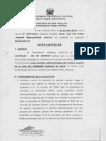 Exp 01452-2011 Contencioso Milton Cesar Juzman Atarama- Cautelar de No Innovar