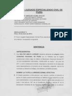 Exp 02670-2011 Accion de Amparo Walter Amaya Llenque - Sentencia 1ra Instancia