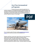 A Close Look at Two Aeronautical Engineering Programs