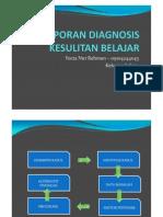 Laporan Diagnosis Kesulitan Belajar