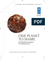 UNDP - One Planet to Share - Sustaining Human Progress in a Changing Climate (Asia-Pacific HDR) 2012