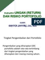 rumus perhitungan return saham