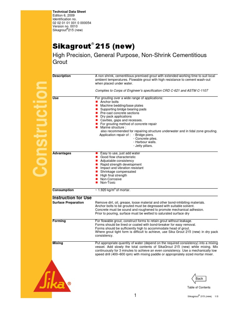 Sika 215 Project | Mortar (Masonry) | Concrete