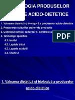 TEHNOLOGIA PRODUSELOR LACTATE ACIDO-DIETETICE
