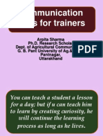 COMMUNICATION SKILLS FOR TRAINERS