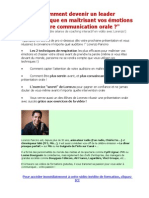 Les secrets de la communication orale