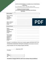 Formulir Pendaftaran AIPKIND Revisi Iuran
