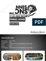 Cannes Lions 2012 Press Silver Lions