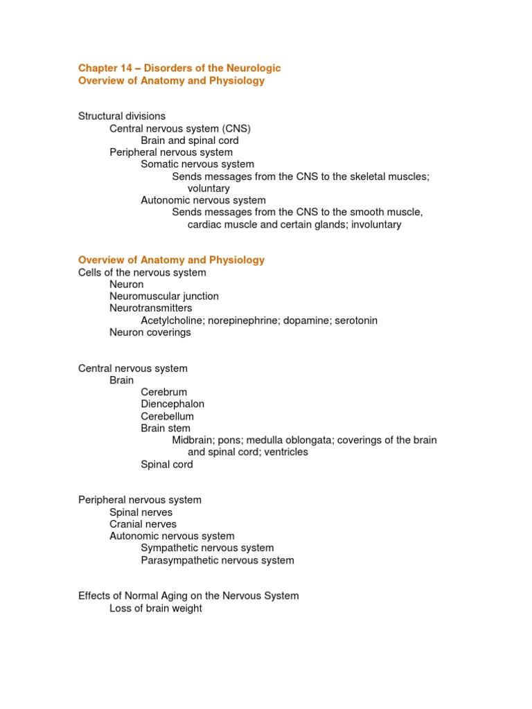 Chapter 14 Neurologic Disorders Study Guide Outline #2 | Headache ...