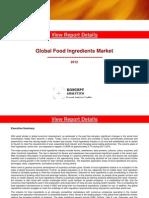 Global Food Ingredients Market 2012